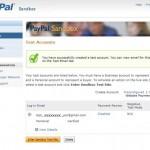 PayPal Sandbox Confirmation Page