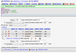 wordpress-change-theme-database
