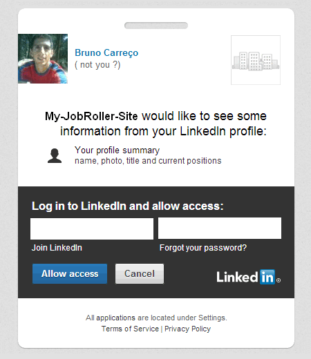 Sign-in with LinkedIn