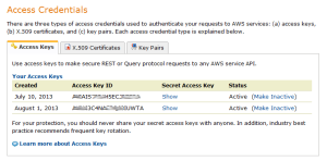 Amazon Access Keys