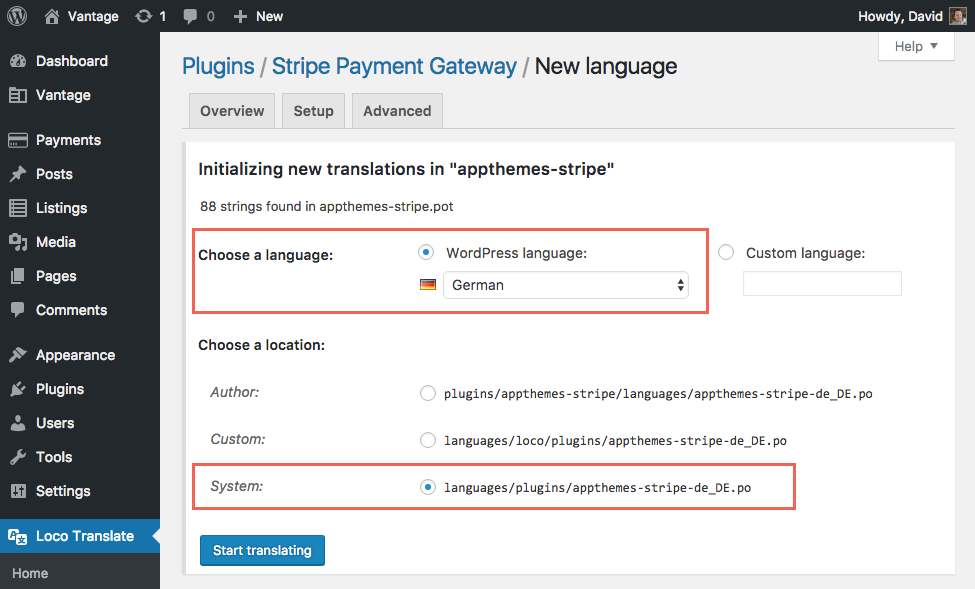 How to Translate a WordPress Plugin | AppThemes Docs