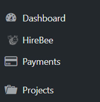 hire-bee-dashboard-menus