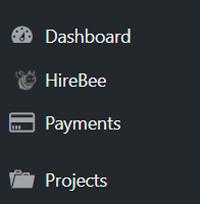 hire-bee-dashboard-menus