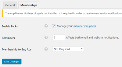 memberships-pricing-settings-classipress