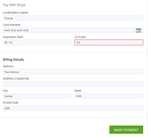 Escrow Functionality Using Stripe Plugin - On a HireBee Website